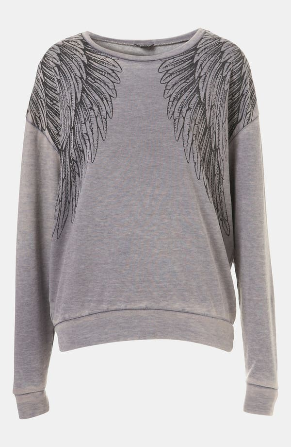 Alternate Image 1 Selected - Topshop Wing Sweatshirt