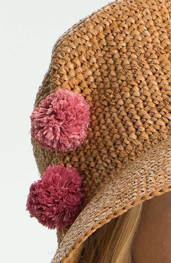 Alternate Image 2  - Flora Bella Crochet Raffia Hat