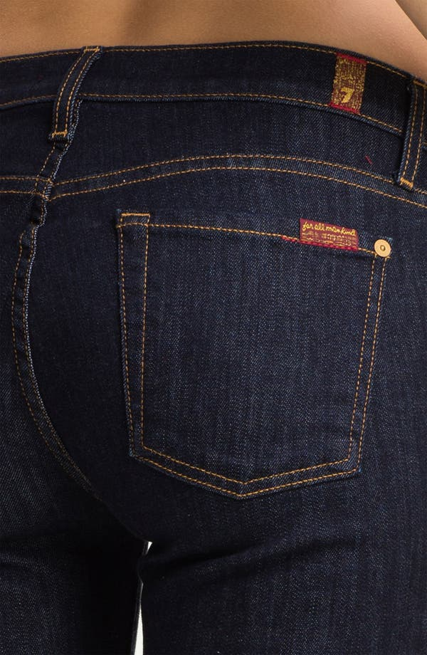 Alternate Image 3  - 7 For All Mankind® 'The Slim Cigarette' Stretch Jeans (Rinse)