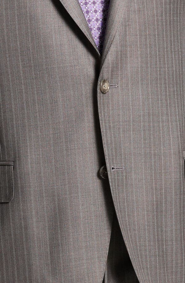 Alternate Image 6  - Peter Millar Stripe Wool Suit