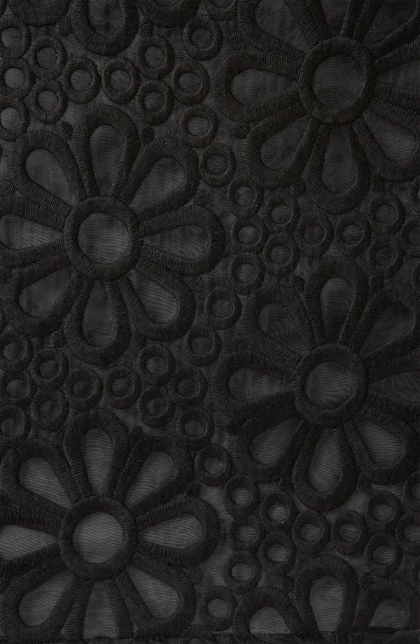 Alternate Image 3  - Topshop Embroidered Organza Party Dress