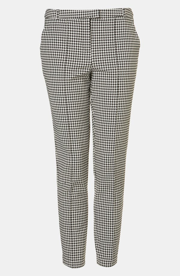 Main Image - Topshop Houndstooth Cigarette Pants
