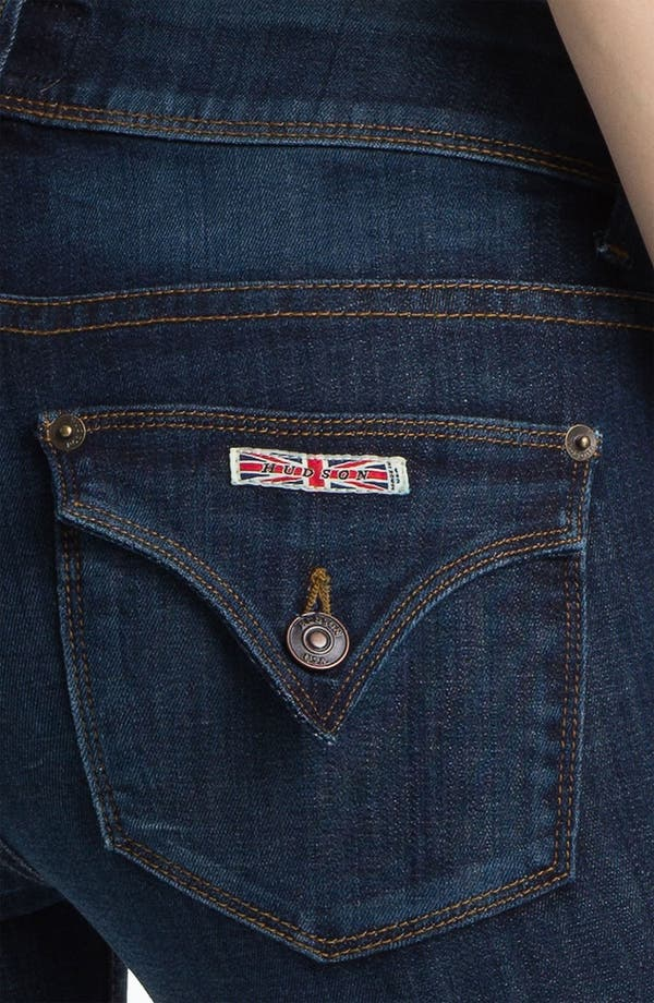 Alternate Image 3  - Hudson Jeans 'Beth' Baby Bootcut Jeans (Blue)