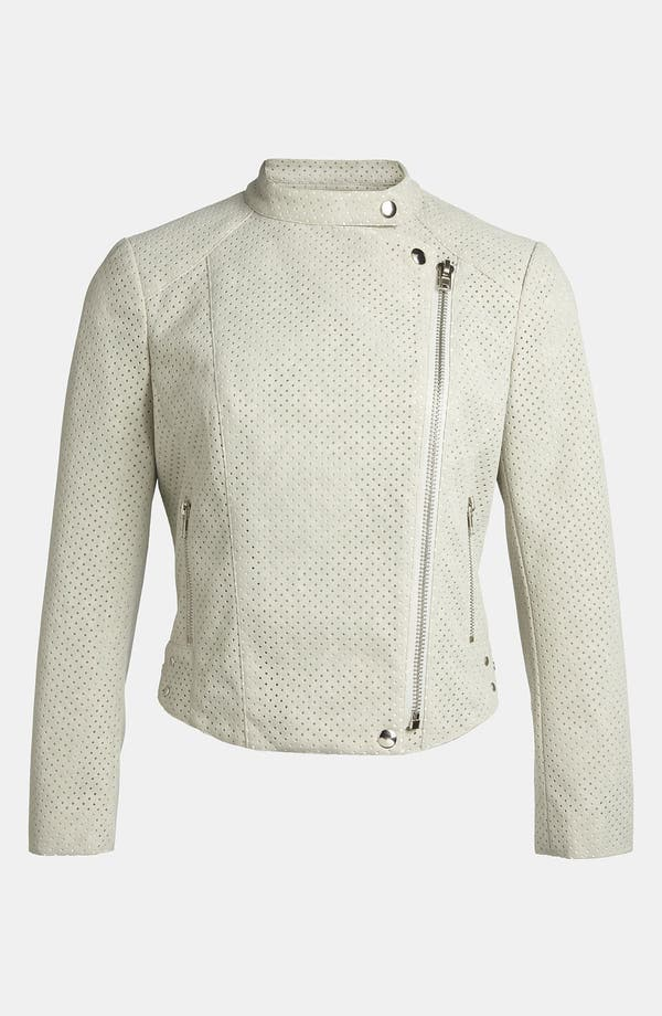 Alternate Image 1 Selected - ASTR Perforated Faux Suede Moto Jacket