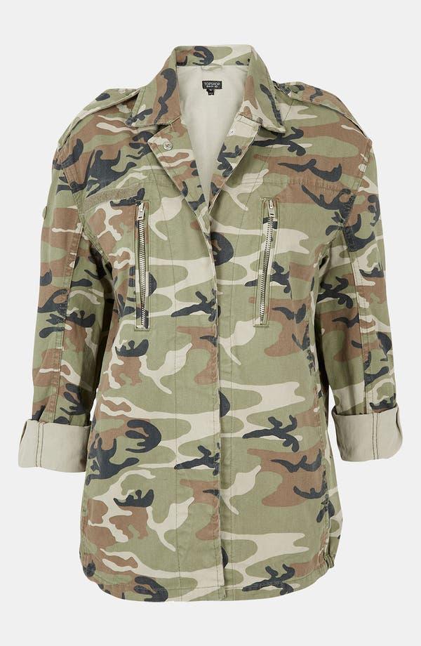 Main Image - Topshop Camo Army Jacket