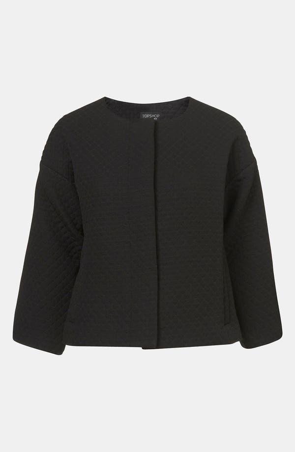 Main Image - Topshop Quilted Crop Drop Shoulder Jacket