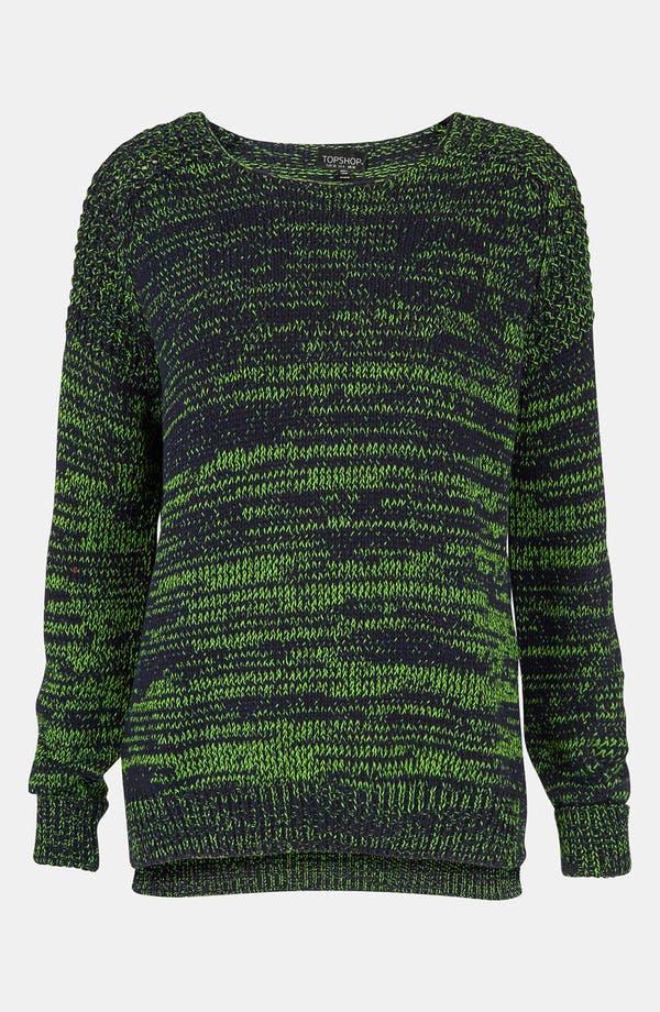 Alternate Image 1 Selected - Topshop Neon Mélange Sweater