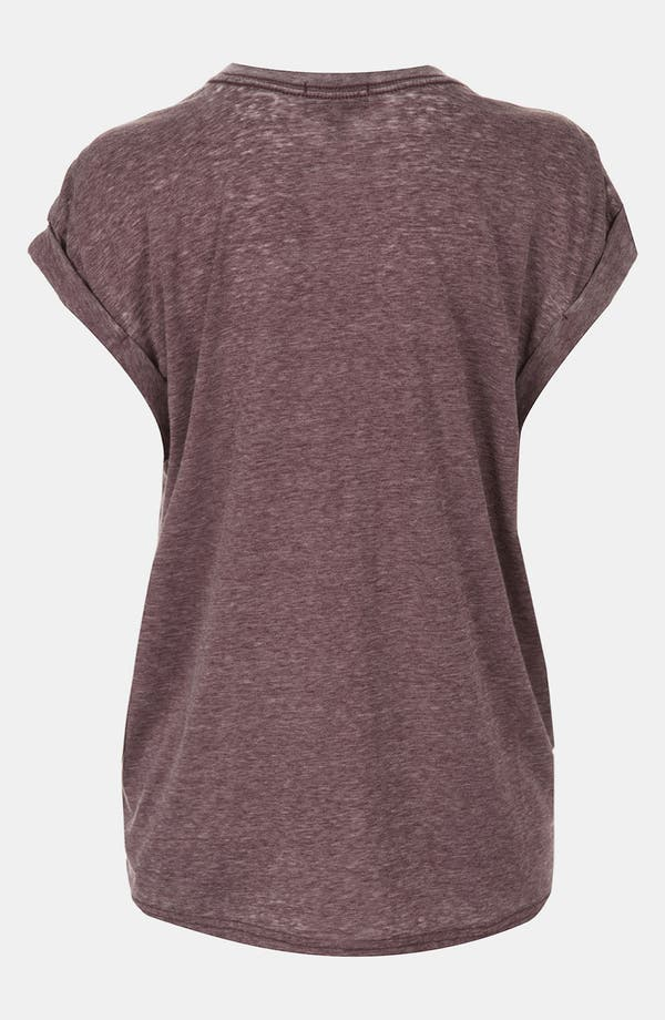 Alternate Image 2  - Topshop Oversize Burnout Maternity Tee
