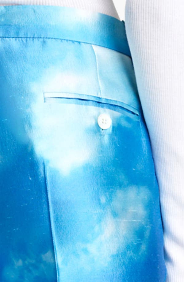 Alternate Image 3  - Michael Kors 'Samantha' Digital Print Skinny Shantung Pants