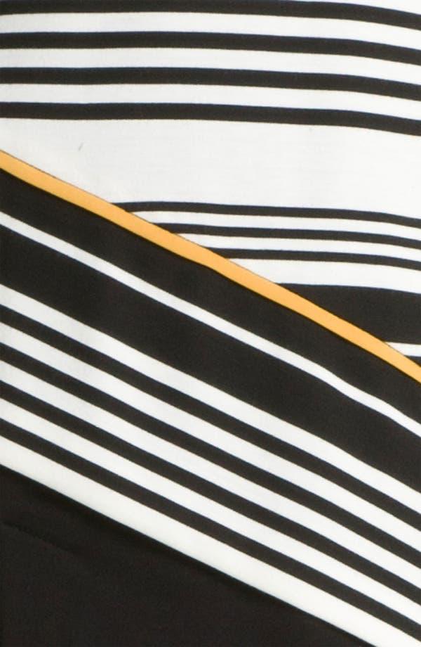 Alternate Image 3  - Donna Ricco Colorblock Stripe Ponte Shift Dress (Petite)