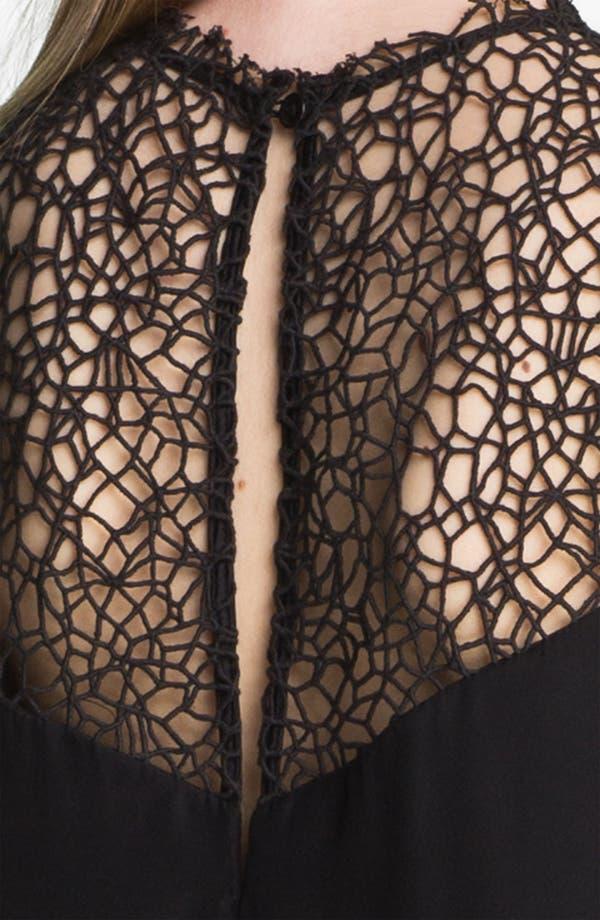 Alternate Image 5  - rag & bone 'Abigayle' Crocheted Yoke Silk Blouse