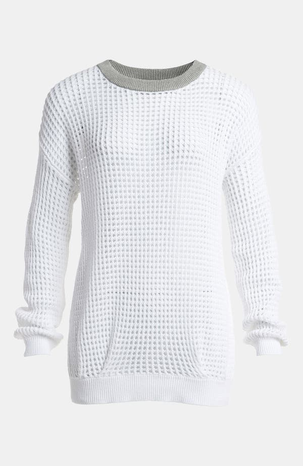 Alternate Image 1 Selected - Leith Square Mesh Pullover