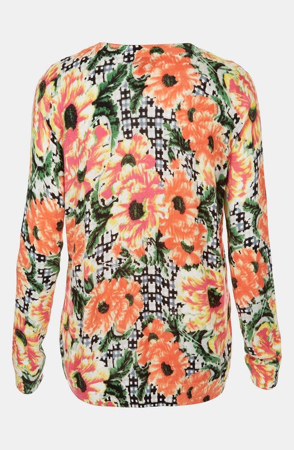 Alternate Image 2  - Topshop Floral Print Sweater