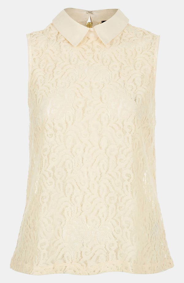 Alternate Image 1 Selected - Topshop Collared Lace Tank