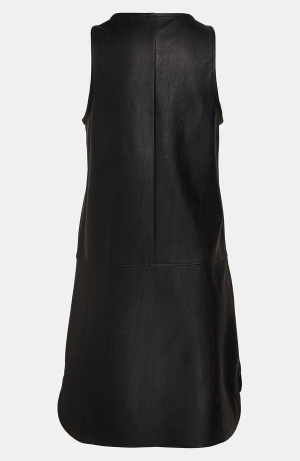 Alternate Image 3  - ASTR Faux Leather High/Low Tank Dress