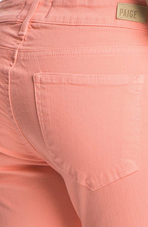 Alternate Image 3  - Paige Denim 'Skyline' Skinny Stretch Ankle Jeans (Flamingo)
