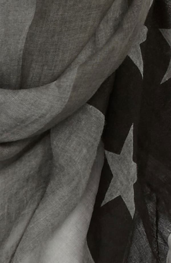 Alternate Image 2  - John Varvatos Collection Flag Print Scarf