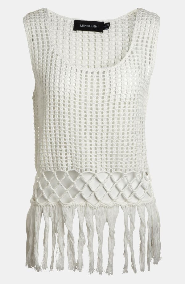 Alternate Image 1 Selected - MINKPINK 'Angel Tears' Crochet Tank