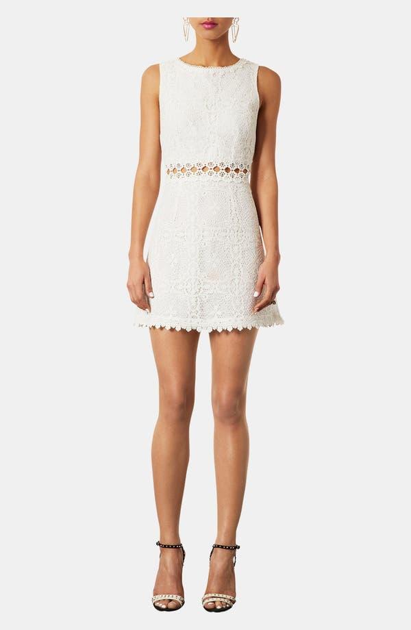 Main Image - Topshop Swinging Sixties Lace Dress
