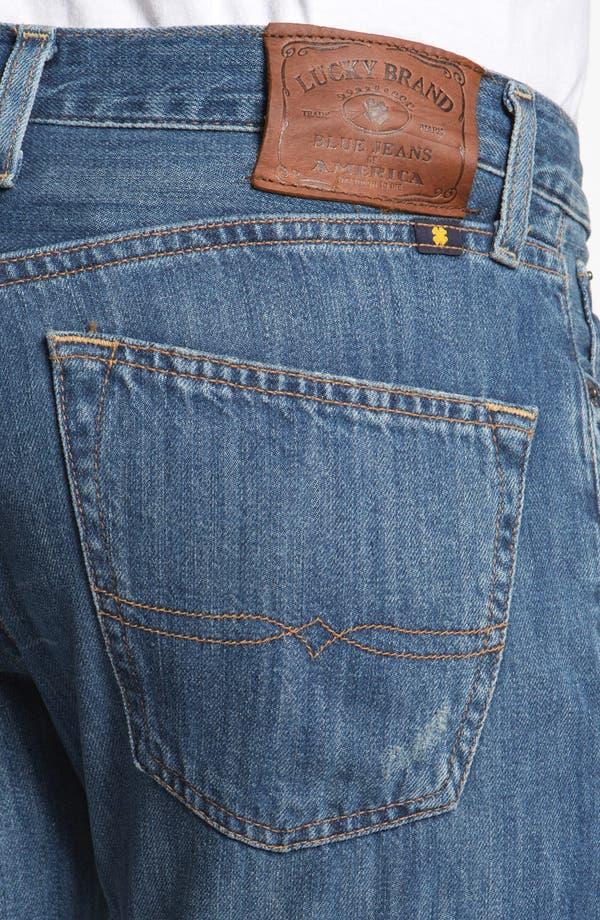 Alternate Image 4  - Lucky Brand '121 Heritage' Slim Straight Leg Jeans (Conejo)