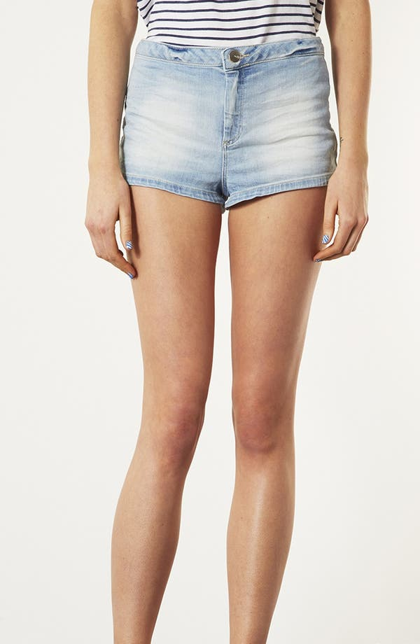 Alternate Image 1 Selected - Topshop 'Francis' Bleached Denim Shorts