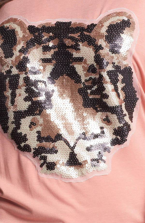 Alternate Image 3  - Painted Threads 'Tiger' Sequin Top (Juniors Plus)