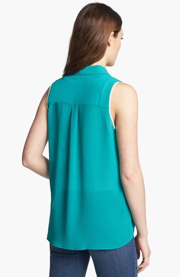 Alternate Image 2  - Olive & Oak Tipped Collar Sleeveless Blouse
