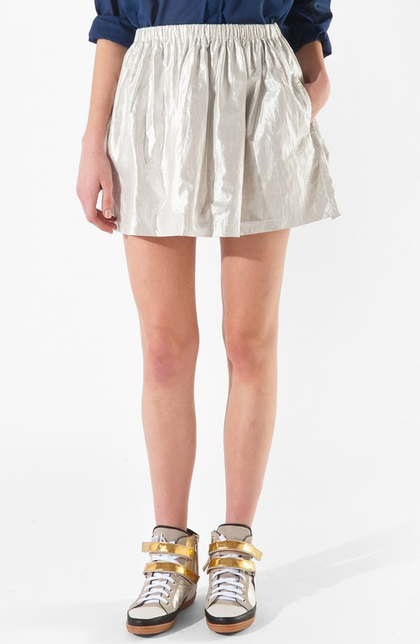 Main Image - maje 'Camon' Lamé Skirt