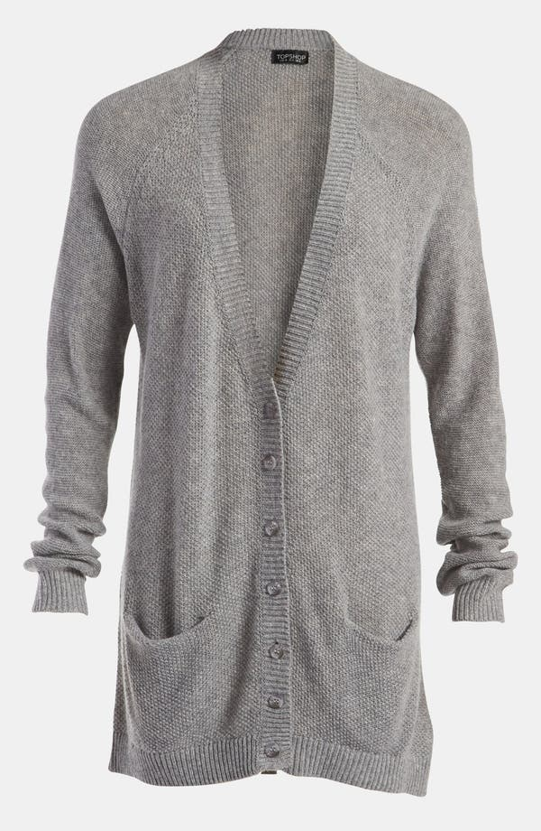 Alternate Image 1 Selected - Topshop 'Moss Stitch' Cardigan