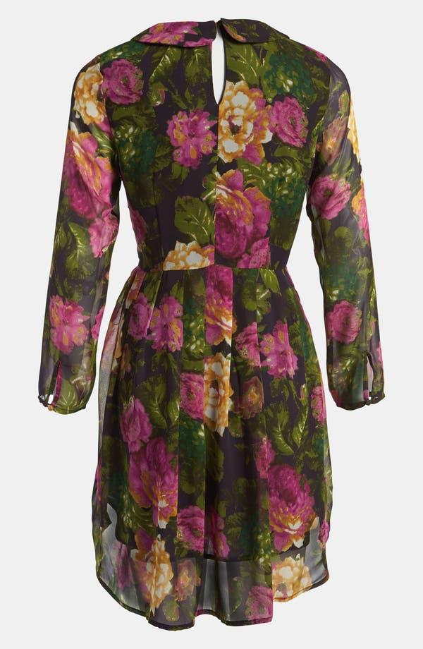 Alternate Image 2  - I.Madeline Floral High/Low Dress