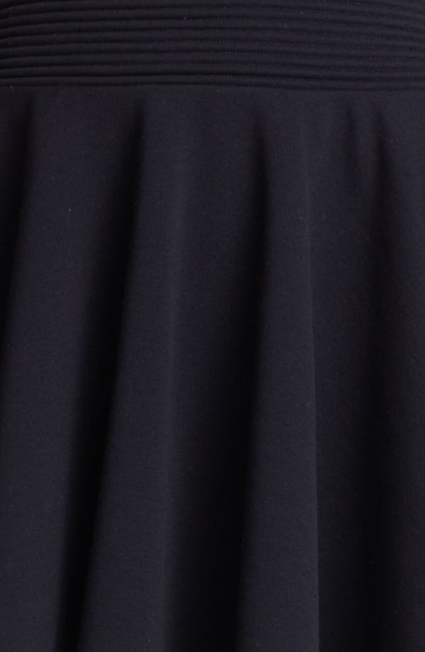 Flared Knit Skirt,                             Alternate thumbnail 3, color,                             Black