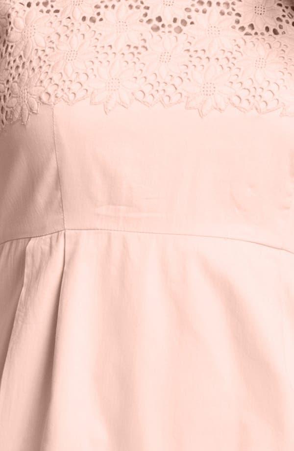 Alternate Image 3  - French Connection 'Creamy' Embroidered Yoke Sheath Dress