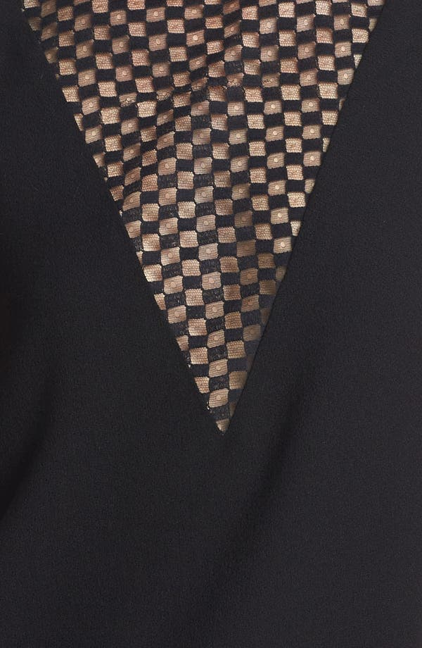 Alternate Image 4  - A.L.C. 'Harlow' Checkerboard Lace Inset Top