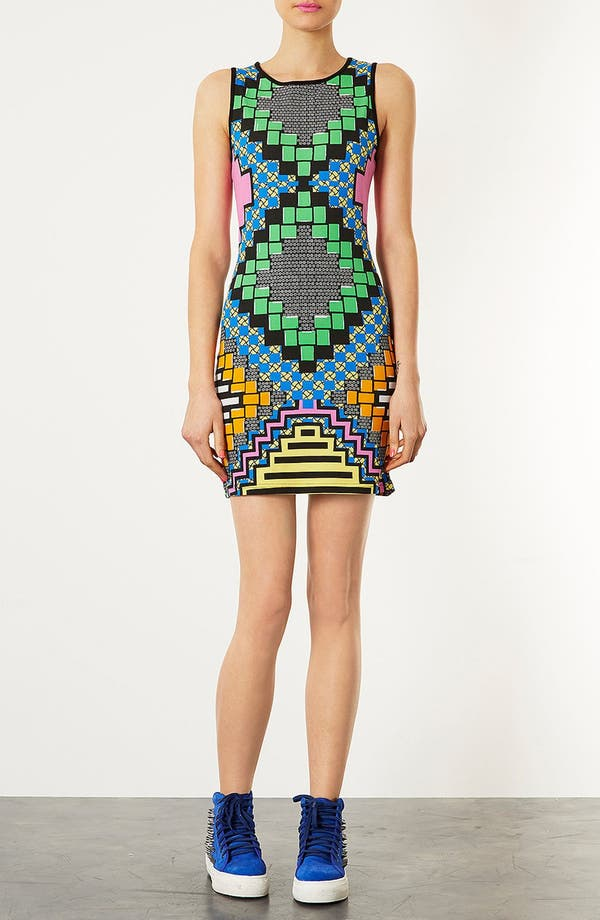 Alternate Image 1 Selected - Topshop 'African Party' Body-Con Dress