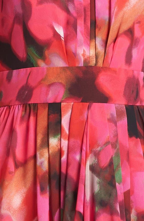 Alternate Image 3  - Eliza J Print Pleat Fit & Flare Dress (Regular & Petite)