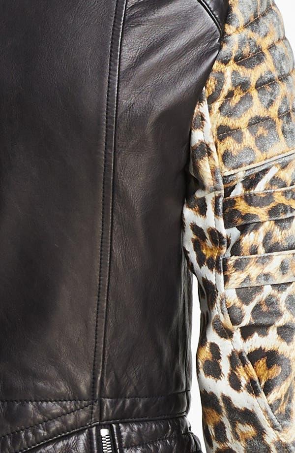 Alternate Image 5  - 3.1 Phillip Lim Quilted Sleeve Leather Moto Jacket