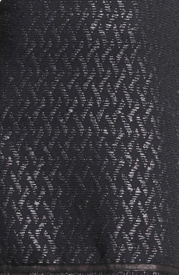 Alternate Image 3  - Alice + Olivia 'Sardo' Leather Detail Dress