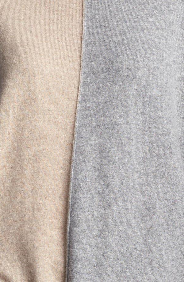 Colorblock Oversized Cashmere Sweater,                             Alternate thumbnail 5, color,                             Sand Multi