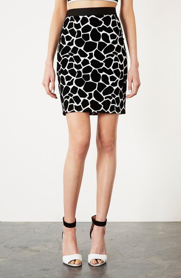 Alternate Image 1 Selected - Topshop Giraffe Pattern Pencil Skirt