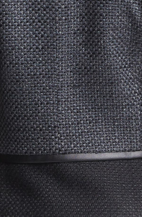 Alternate Image 5  - Halogen® Faux Leather Trim Tweed Jacket