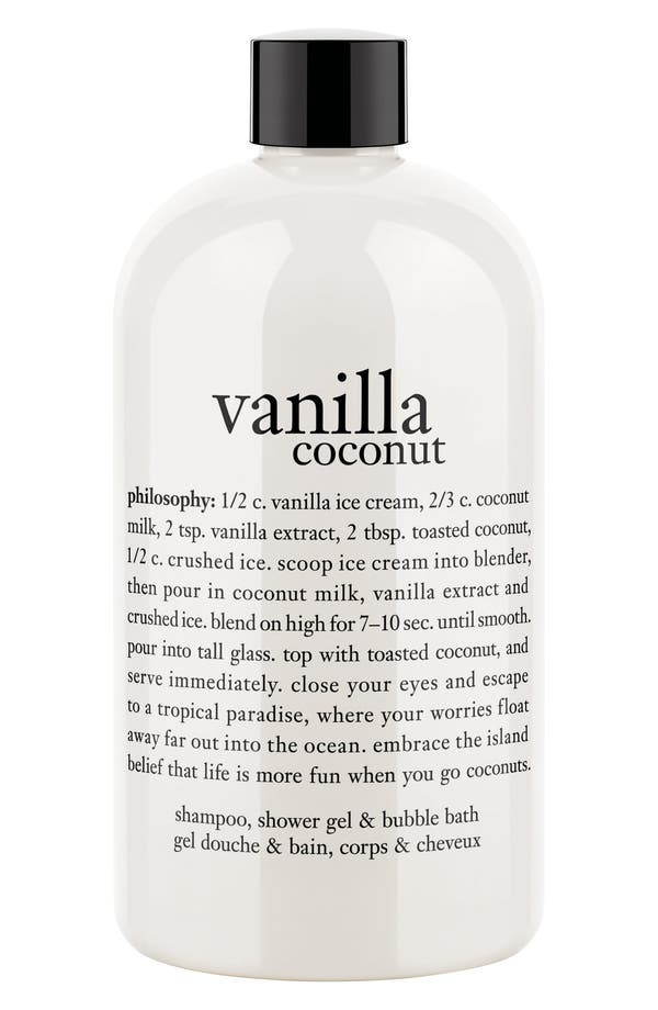 Alternate Image 1 Selected - philosophy 'vanilla coconut' shampoo, shower gel & bubble bath (Limited Edition)