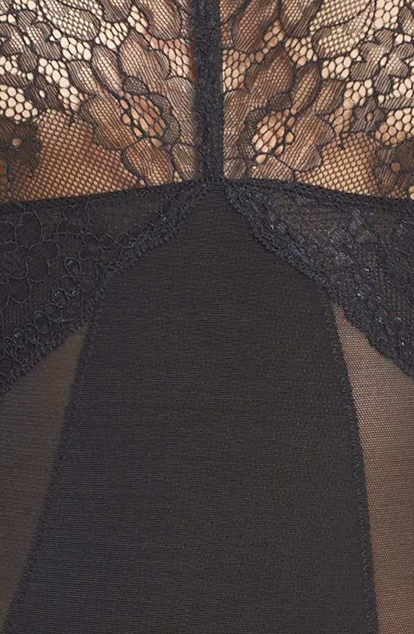 Spotlight On Lace Bodysuit,                             Alternate thumbnail 5, color,                             Very Black