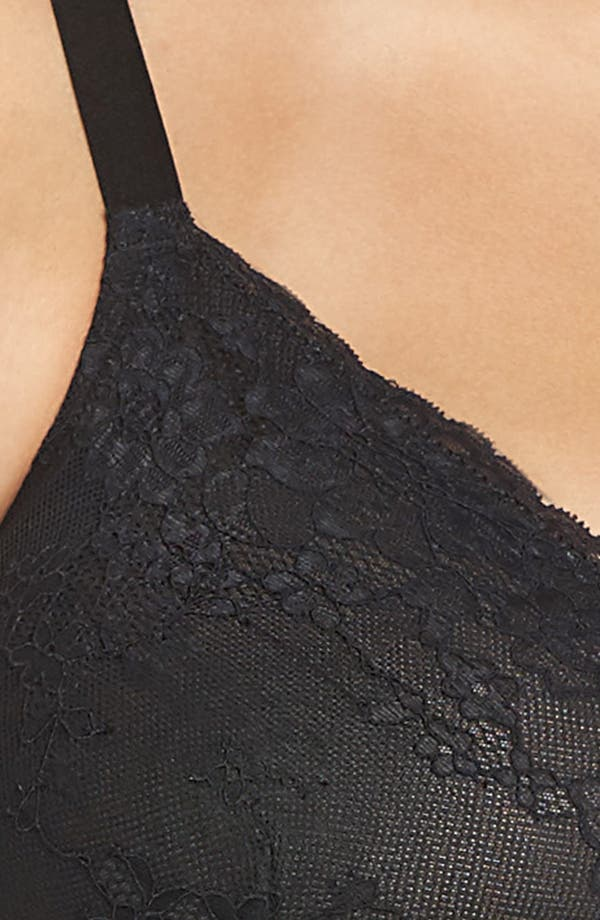 Spotlight On Lace Bralette,                             Alternate thumbnail 9, color,                             Very Black