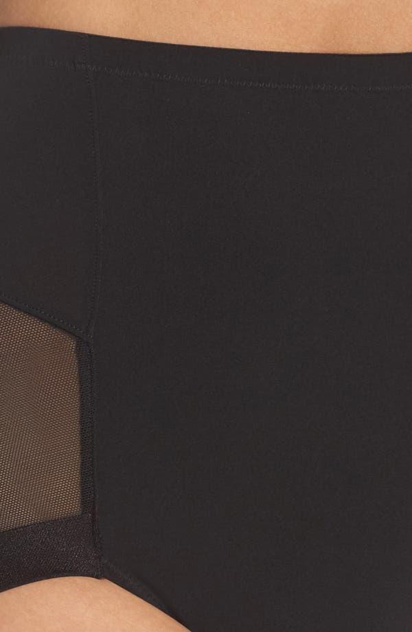 Infinite High Waist Shaper Panties,                             Alternate thumbnail 5, color,                             Black