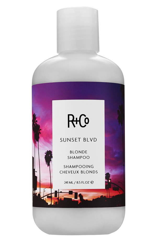 SPACE.NK.apothecary R+Co Sunset Blvd Blonde Shampoo,                             Main thumbnail 1, color,                             No Color