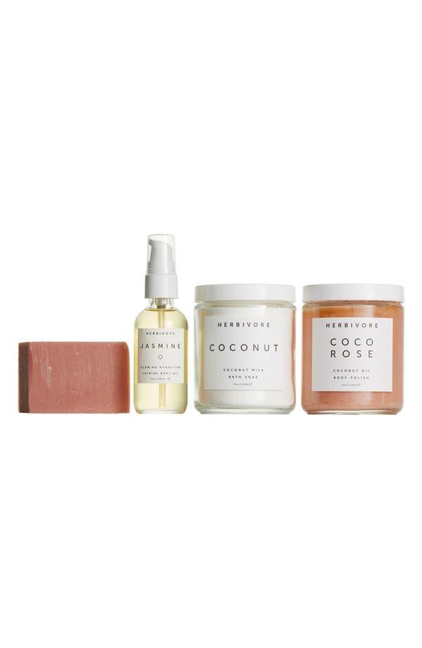 Hervibore Botanicals Deluxe Bath + Body Set,                             Main thumbnail 1, color,                             No Color