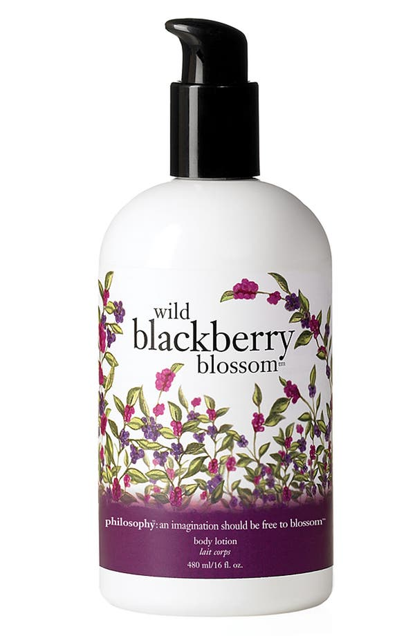 Main Image - philosophy 'wild blackberry blossom' body lotion