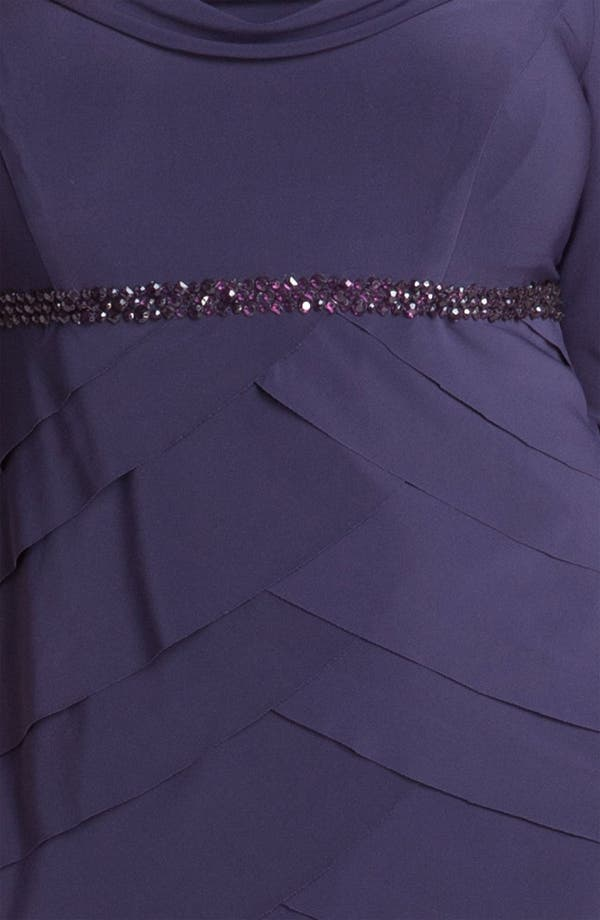 Alternate Image 3  - Alex Evenings Beaded Tiered Matte Jersey Sheath Dress (Plus)