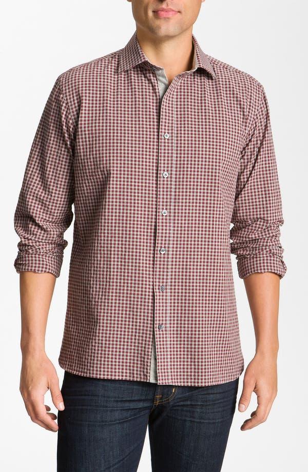 Alternate Image 1 Selected - Hickey Freeman Gingham Woven Shirt