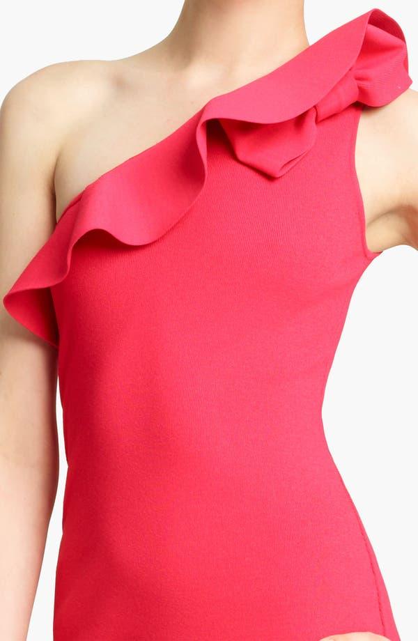 Alternate Image 2  - Valentino One Shoulder Knit Dress